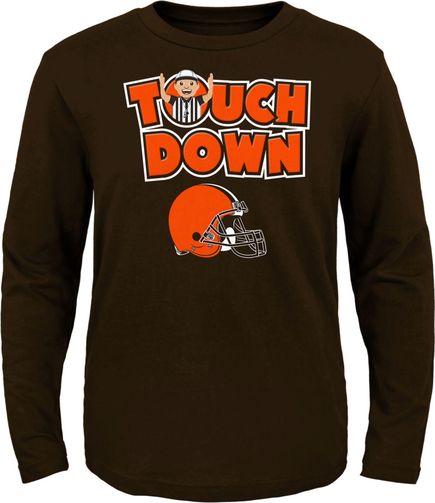 NFL Team Apparel Toddler Cleveland Browns Touchdown Long Sleeve Brown Shirt