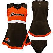 NFL Team Apparel Toddler Cleveland Browns Cheer Jumper Dress