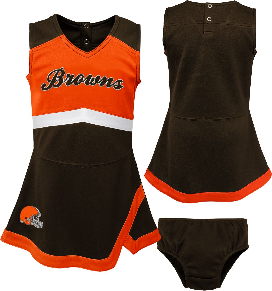 best sneakers 299ab 835df NFL Team Apparel Toddler Cleveland Browns Cheer Jumper Dress