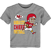 NFL Team Apparel Toddler Kansas City Chiefs Lil Player Grey T-Shirt