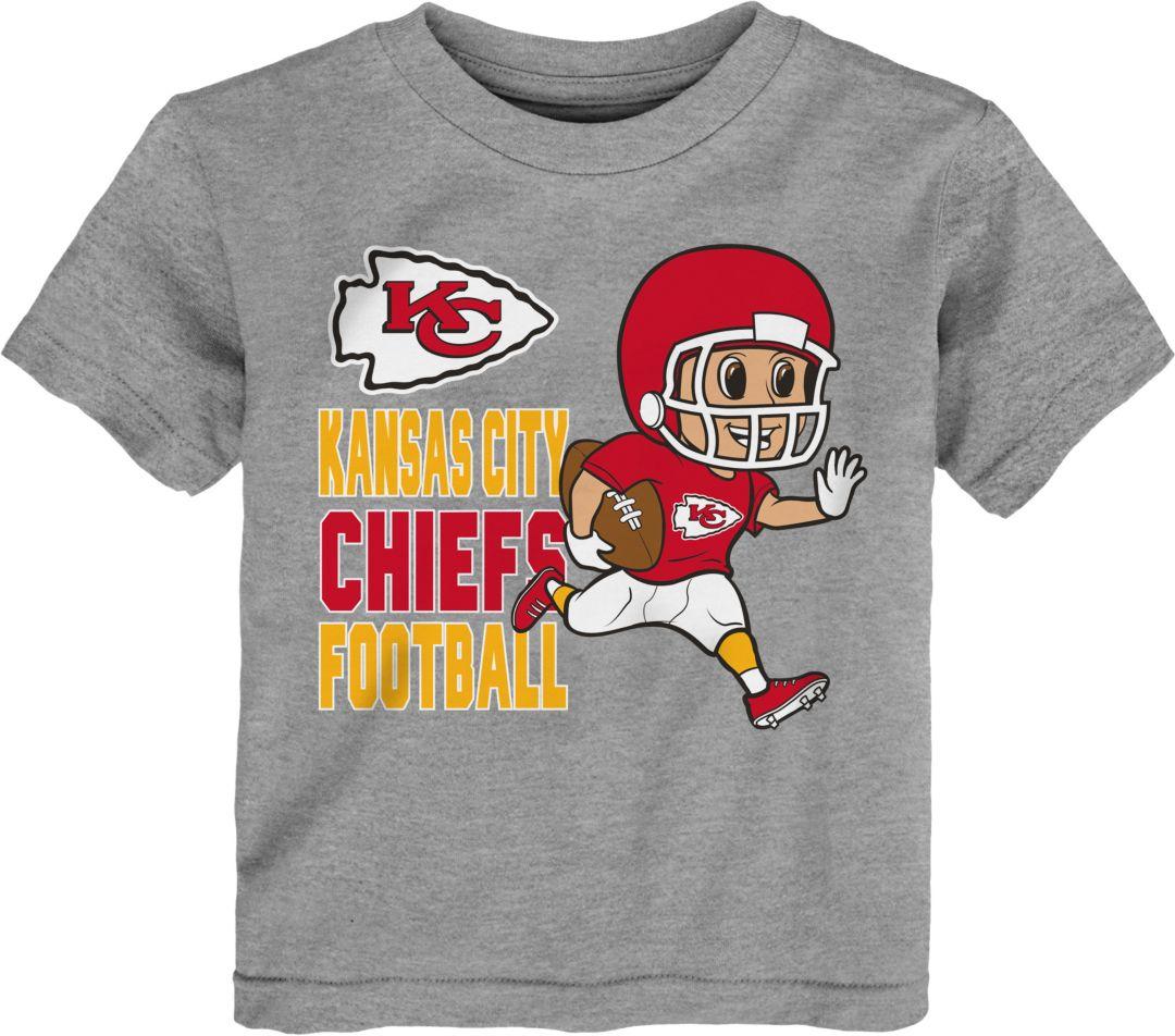 the best attitude 5cd9f d0dd7 NFL Team Apparel Toddler Kansas City Chiefs Lil Player Grey T-Shirt