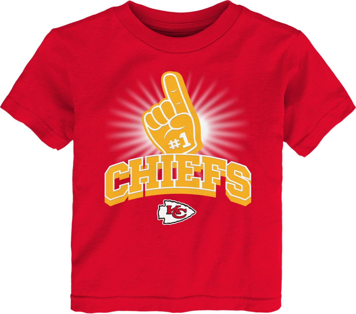 NFL Team Apparel Toddler Kansas City Chiefs #1 Fan Red T-Shirt