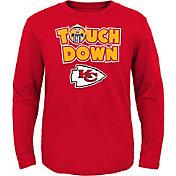 NFL Team Apparel Toddler Kansas City Chiefs Touchdown Long Sleeve Red Shirt
