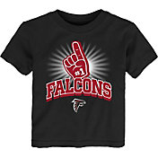NFL Team Apparel Toddler Atlanta Falcons #1 Fan Black T-Shirt
