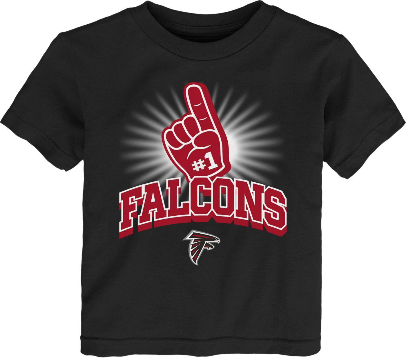 NFL Team Apparel Toddler Atlanta Falcons #1 Fan Black T-Shirt