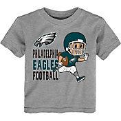 NFL Team Apparel Toddler Philadelphia Eagles Lil Player Grey T-Shirt