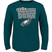 NFL Team Apparel Toddler Philadelphia Eagles Touchdown Long Sleeve Green Shirt
