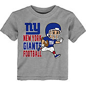 NFL Team Apparel Toddler New York Giants Lil Player Grey T-Shirt