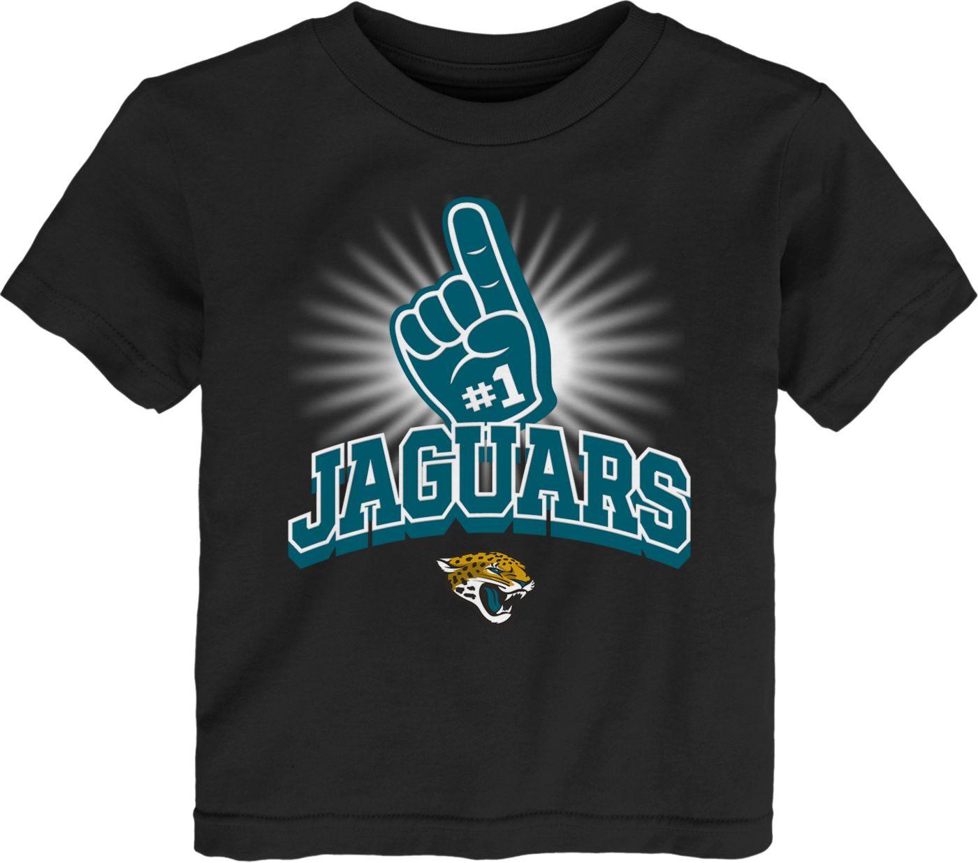 NFL Team Apparel Toddler Jacksonville Jaguars #1 Fan Black T-Shirt