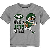 NFL Team Apparel Toddler New York Jets Lil Player Grey T-Shirt