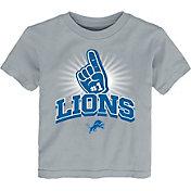 NFL Team Apparel Toddler Detroit Lions #1 Fan Grey T-Shirt