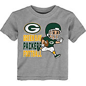 NFL Team Apparel Toddler Green Bay Packers Lil Player Grey T-Shirt