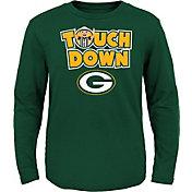 NFL Team Apparel Toddler Green Bay Packers Touchdown Long Sleeve Green Shirt
