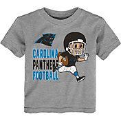 NFL Team Apparel Toddler Carolina Panthers Lil Player Grey T-Shirt