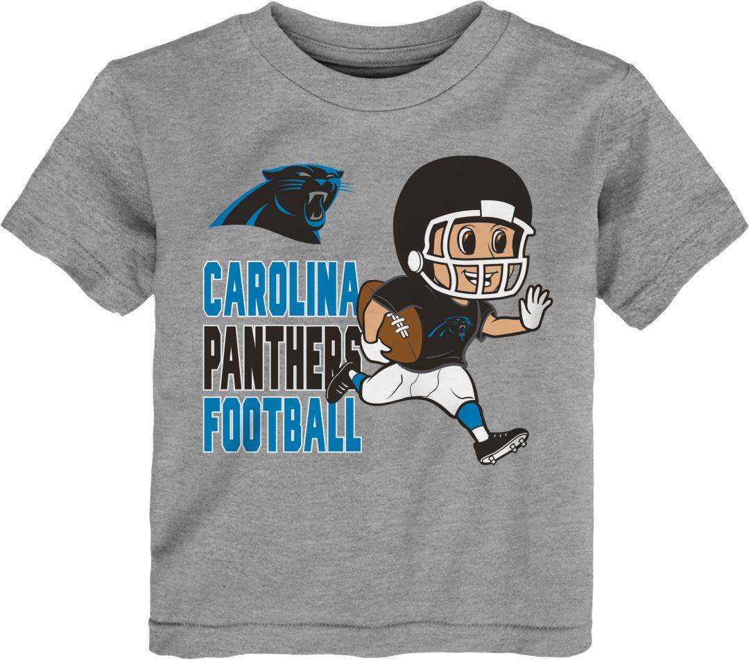 competitive price 536a2 a806c NFL Team Apparel Toddler Carolina Panthers Lil Player Grey T-Shirt