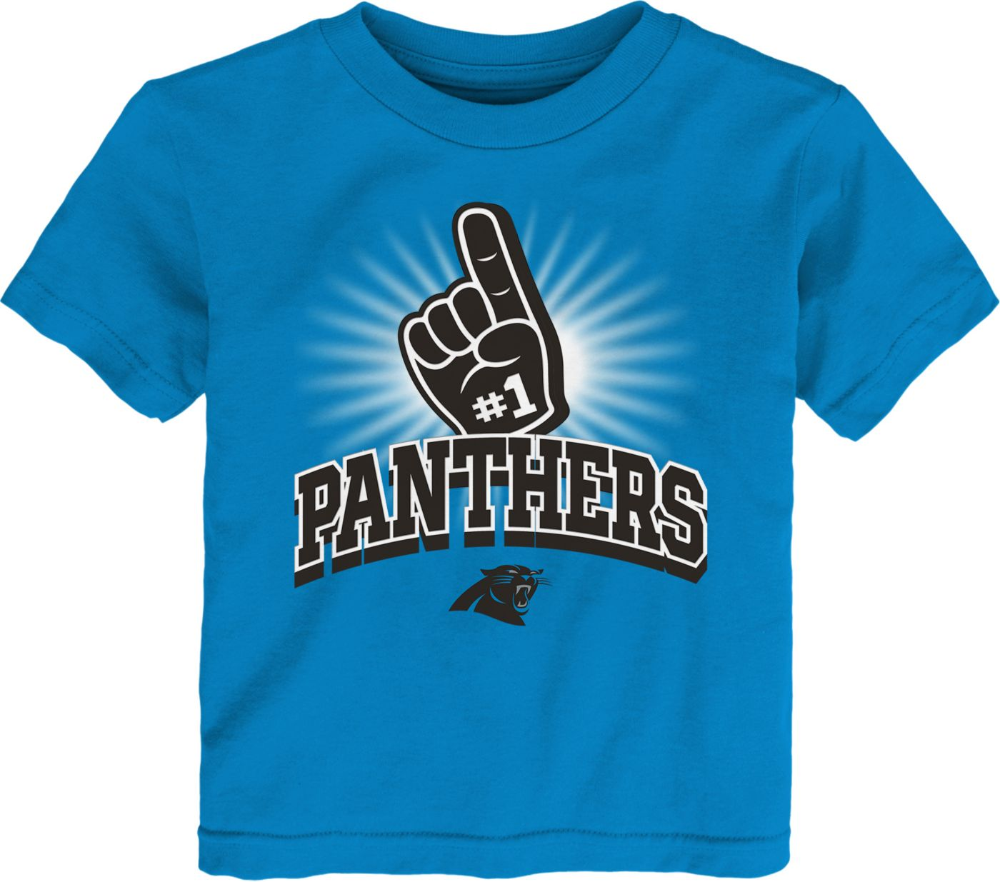 NFL Team Apparel Toddler Carolina Panthers #1 Fan Blue T-Shirt