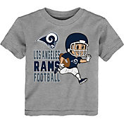 NFL Team Apparel Toddler Los Angeles Rams Lil Player Grey T-Shirt