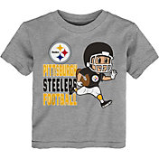 NFL Team Apparel Toddler Pittsburgh Steelers Lil Player Grey T-Shirt