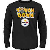 NFL Team Apparel Toddler Pittsburgh Steelers Touchdown Long Sleeve Black Shirt