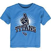 NFL Team Apparel Toddler Tennessee Titans #1 Fan Blue T-Shirt