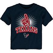 NFL Team Apparel Toddler Houston Texans #1 Fan Navy T-Shirt