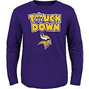 NFL Team Apparel Toddler Minnesota Vikings Touchdown Long Sleeve Purple Shirt