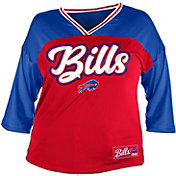 NFL Team Apparel Women's Buffalo Bills Mesh Raglan Top