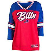 NFL Team Apparel Women's Buffalo Bills Mesh Raglan Top