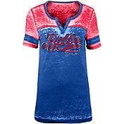 NFL Team Apparel Women's Buffalo Bills Foil Burnout Royal T-Shirt