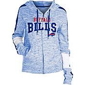 NFL Team Apparel Women's Buffalo Bills Space Dye Full-Zip Hoodie