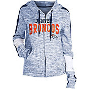 NFL Team Apparel Women's Denver Broncos Space Dye Full-Zip Hoodie