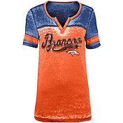 NFL Team Apparel Women's Denver Broncos Foil Burnout Orange T-Shirt