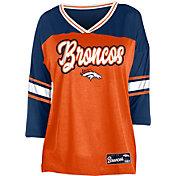 NFL Team Apparel Women's Denver Broncos Mesh Raglan Top