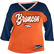NFL Team Apparel Women's Denver Broncos Mesh Raglan Top