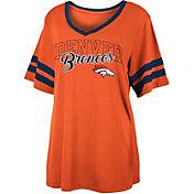 NFL Team Apparel Women's Denver Broncos Slub Glitter T-Shirt