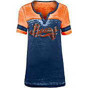 NFL Team Apparel Women's Chicago Bears Foil Burnout Navy T-Shirt