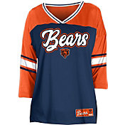 NFL Team Apparel Women's Chicago Bears Mesh Raglan Top