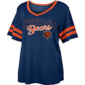NFL Team Apparel Women's Chicago Bears Slub Glitter T-Shirt