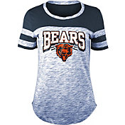 NFL Team Apparel Women's Chicago Bears Space Dye Glitter Navy T-Shirt