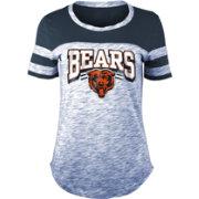 meet c9c1d 98f95 NFL Team Apparel Women's Chicago Bears Space Dye Glitter Navy T-Shirt