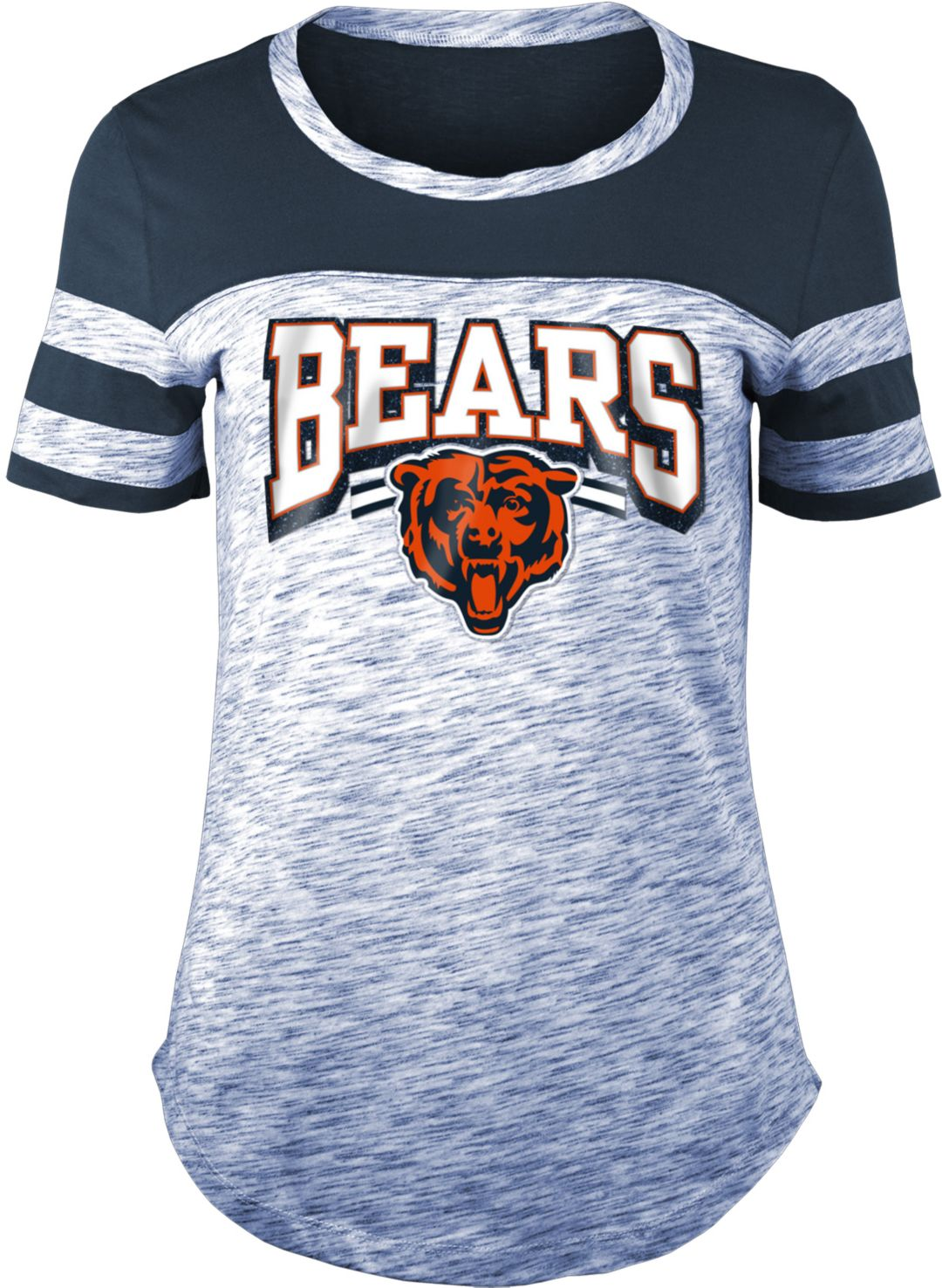 meet 016f8 d27f4 NFL Team Apparel Women's Chicago Bears Space Dye Glitter Navy T-Shirt