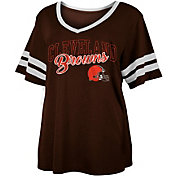 NFL Team Apparel Women's Cleveland Browns Slub Glitter T-Shirt