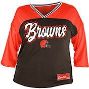 NFL Team Apparel Women's Cleveland Browns Mesh Raglan Top