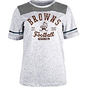 NFL Team Apparel Women's Cleveland Browns Peppercorn T-Shirt