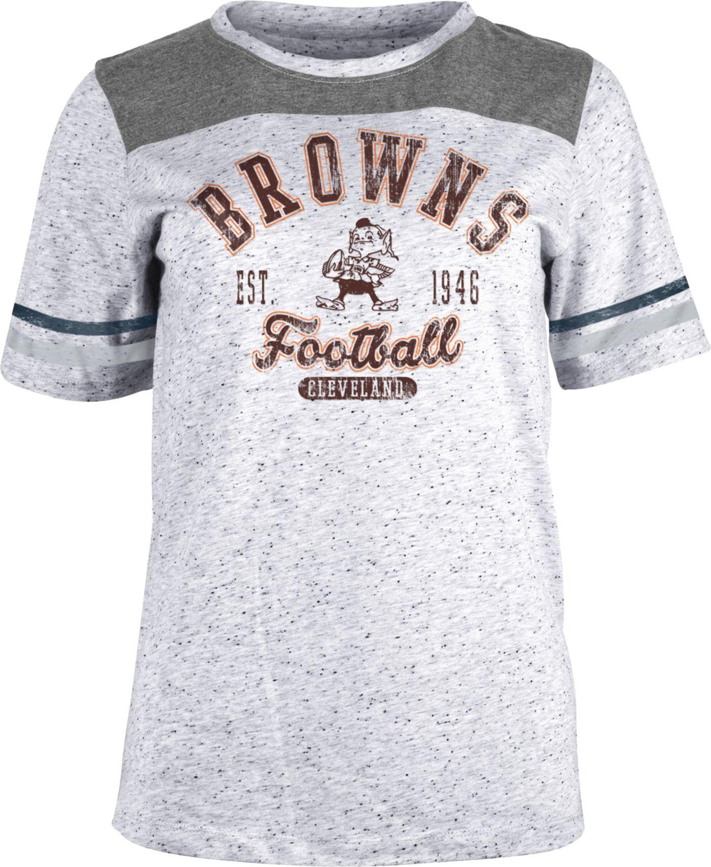 NFL Team Apparel Women's Cleveland Browns Peppercorn T-Shirt