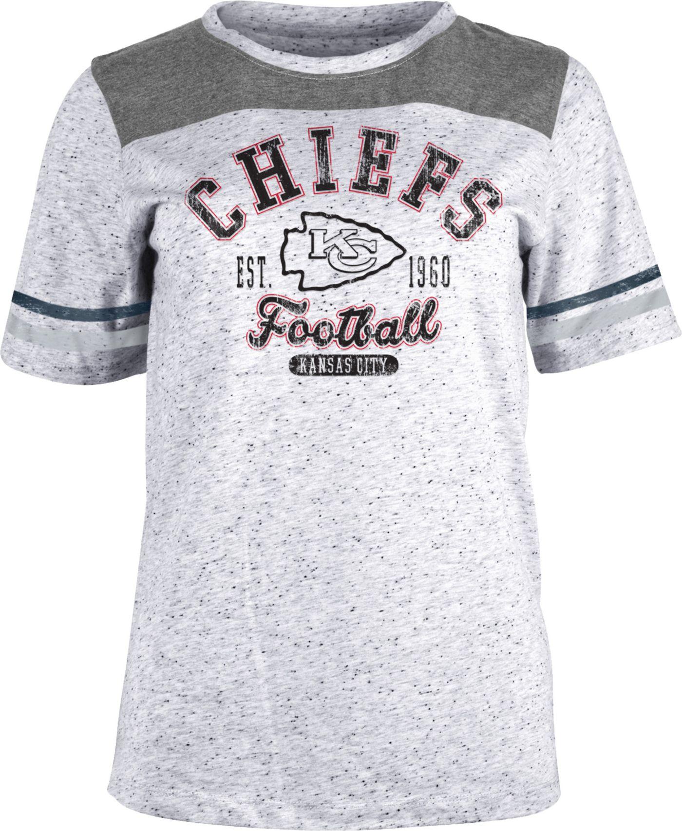 NFL Team Apparel Women's Kansas City Chiefs Peppercorn T-Shirt