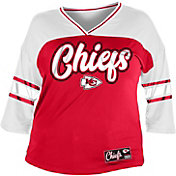 NFL Team Apparel Women's Kansas City Chiefs Mesh Raglan Top