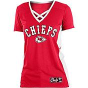 NFL Team Apparel Women's Kansas City Chiefs Mesh X Red T-Shirt