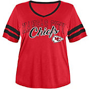 NFL Team Apparel Women's Kansas City Chiefs Slub Glitter T-Shirt