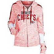 NFL Team Apparel Women's Kansas City Chiefs Space Dye Full-Zip Hoodie